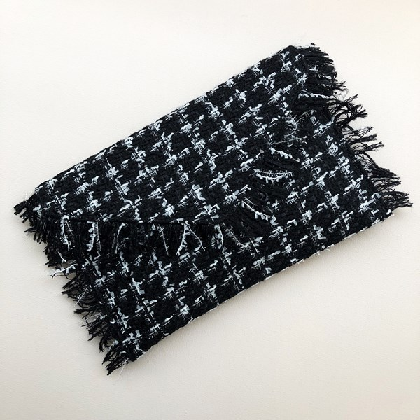 Boucle Fringe Edge Flap Over Clutch