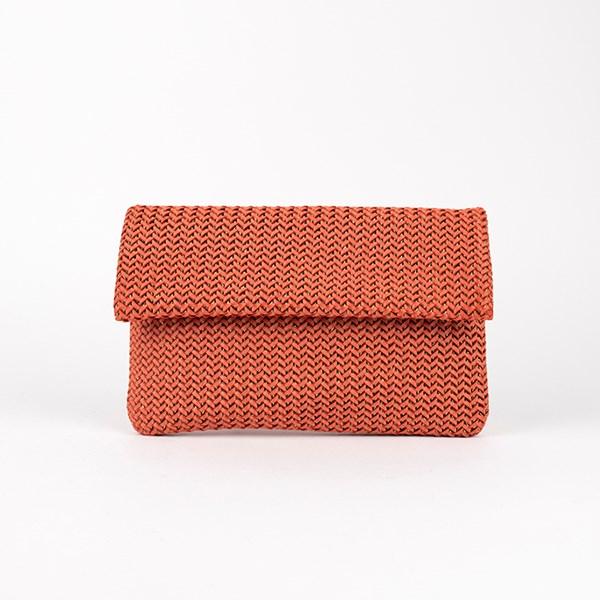 Braid Weave Flap Over Clutch