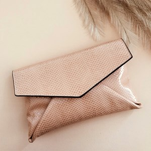 Faux Reptile Small Envelope Clutch