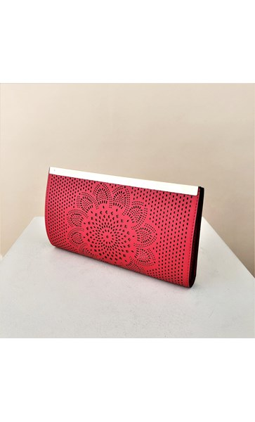 Floral Cut Out Bar Top Clutch