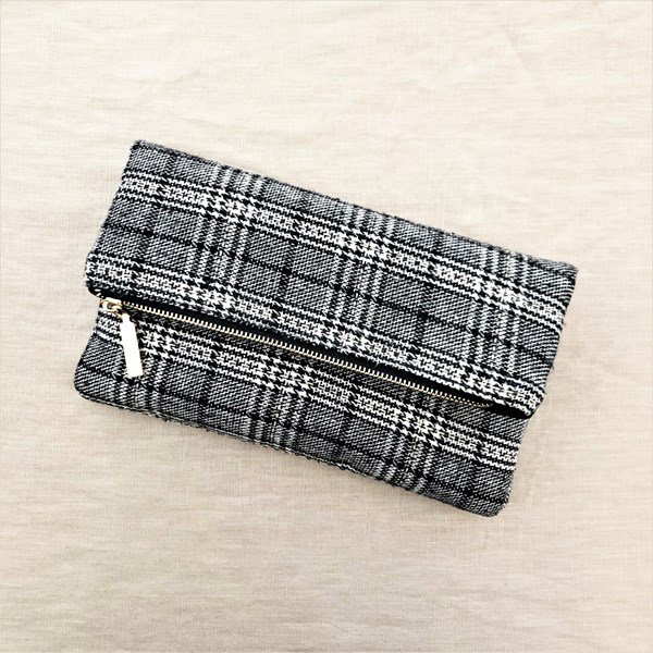 Tweed Flap Over Clutch