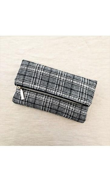Tweed Flap Over Clutch
