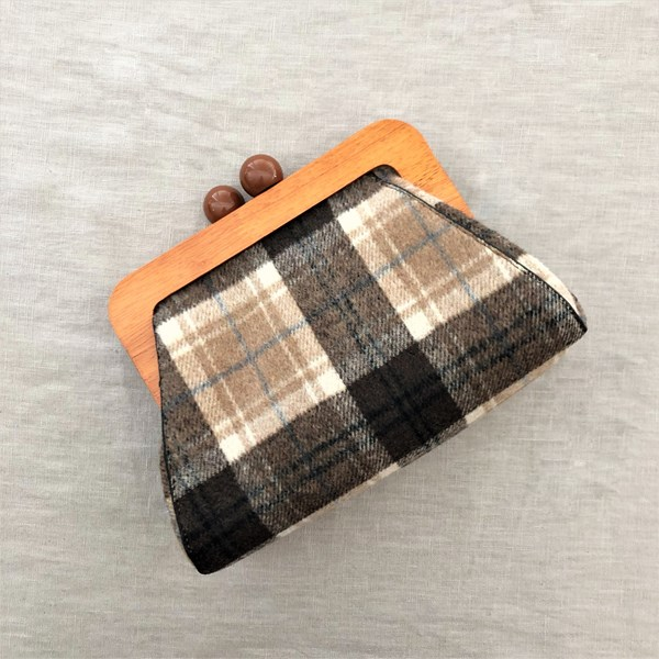 Tartan Picnic Timber Frame Clutch