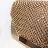 Jewel & Chain Mesh Envelope Clutch - pr_65043