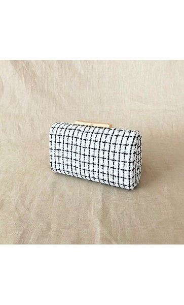 Boucle Check Structured Clutch