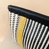 Striped Weave Framed Top Clutch - pr_62967