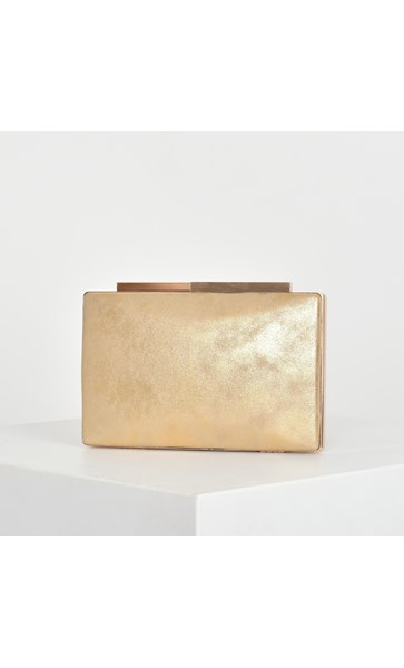 Metallic Texture Structured Clutch