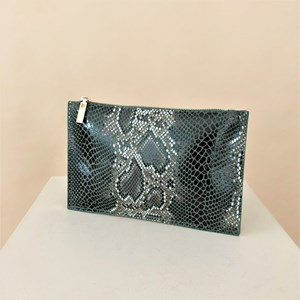 Vegan Reptile Self Lined Pouch