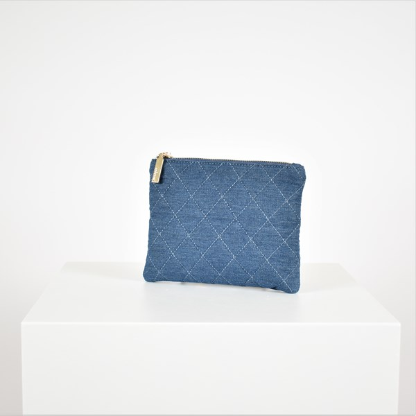 Quilted Denim Pouch