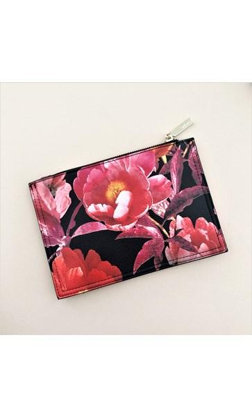 Floral Zip Top Pouch