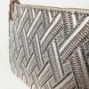 Metallic Thread Woven Zip Top Pouch - pr_65079
