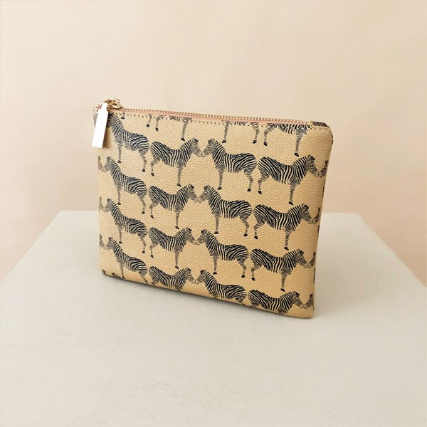 Zebras Print Pouch
