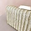Natural Stripe Weave Structured Clutch - pr_62980