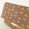 Diamond Cut Out Fold Over Clutch - pr_64375