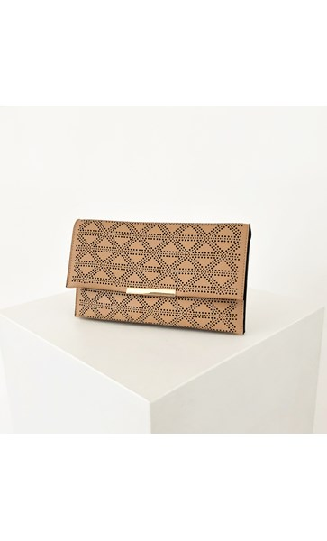 Diamond Cut Out Fold Over Clutch