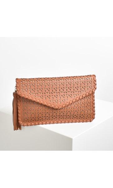 Bohemian Cut Out Blanket Stitch Clutch