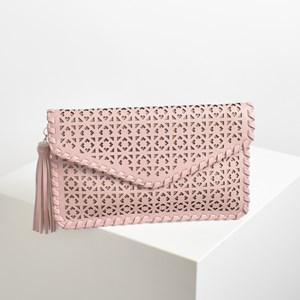 Bohemian Cut Out Blanket Stitch Clutch