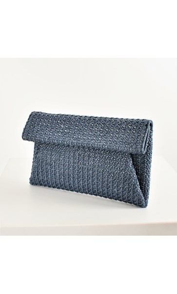 Ladder Weave Small Fold Over Clutch
