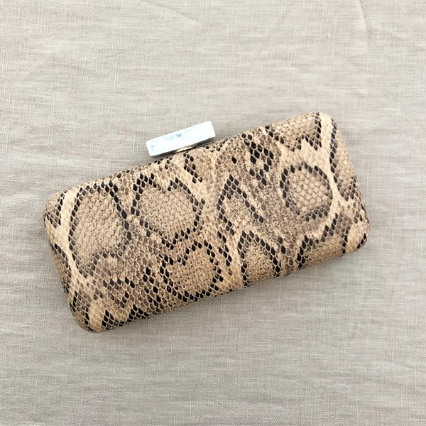 Reptile Resin Clasp Structured Clutch