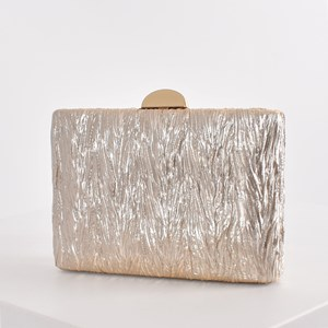 Textured Metallic Structured Clutch