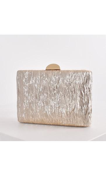 Textured Metallic Structured Clutch