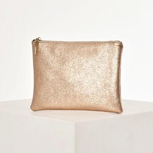 Textured Metallic Pouch