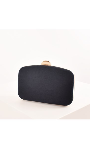 Micro Suede Curved Structured Clutch