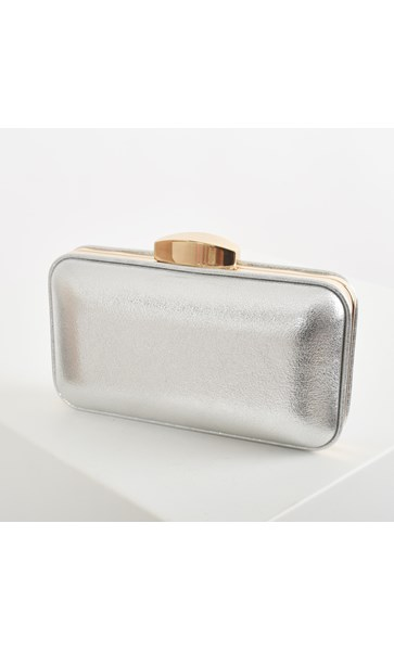 Metallic Piped Structured Clutch