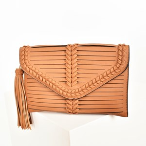 Spliced Plait Edge & Tassel Clutch