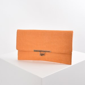 Hessian Weave Slim Fold Over Clutch