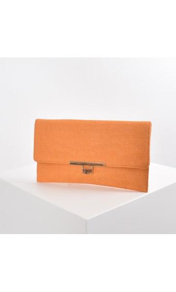 Hessian Weave Slim Fold Over Clutch
