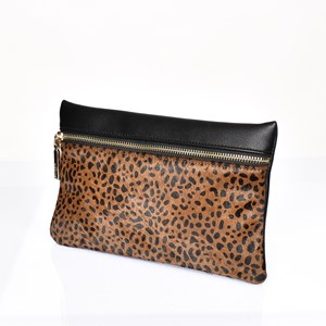 Hide Zip Front Rectangle Pouch