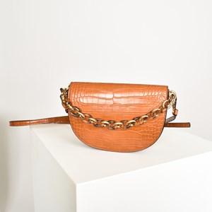 Half Circle Saddle Resin Chain Cross Body Bag