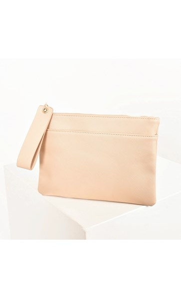 Textured Pocket Front Pouch