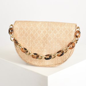Half Circle Saddle Resin Chain Cross Body Bag