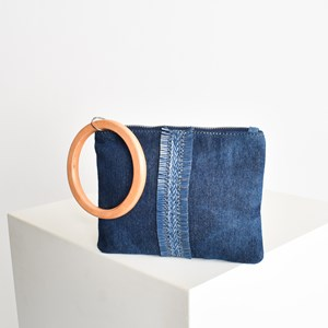 Fringe Detail Timber Ring Pouch