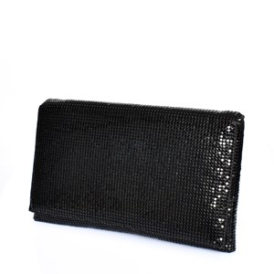 Chain Mesh Fold Over Rectangle Clutch