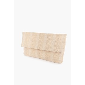 Fold Over Woven Clutch