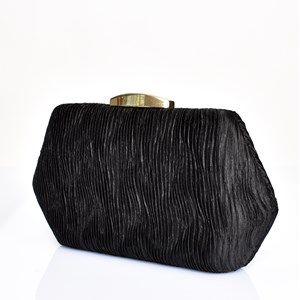 Textured Ripple Hardcase Clutch