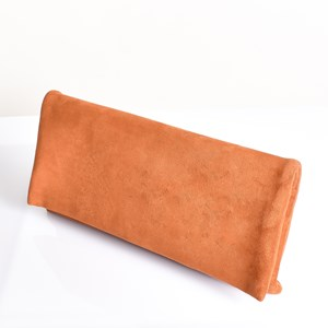 Micro Suede Fold Over Clutch