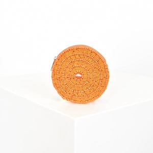 Beaded Round Coin Purse