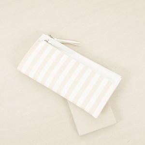 Double Zip Stripe Wallet