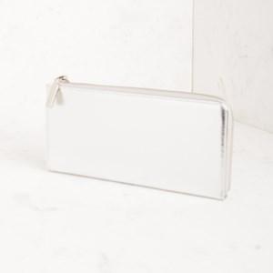 Metallic Zip Around Wallet