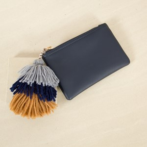 Tri Tassel Mini Zip Top Purse