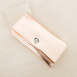 Soft Foldover Round Clasp Wallet