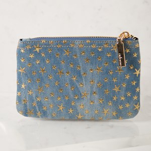 Mini Denim Star Zip Top Purse