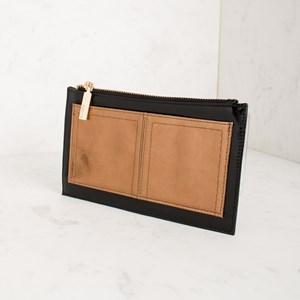 Two Tone Metallic Front Pocket Zip Wallet