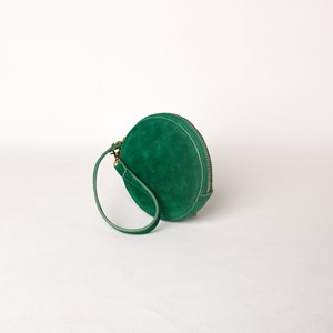 Faux Suede Round Coin Purse