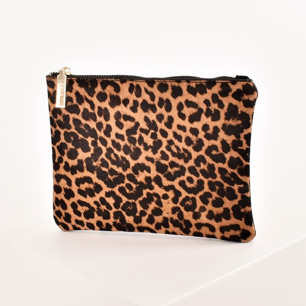 Hide Front Vegan Suede Back Coin Purse