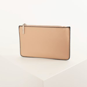 Contrast Stitch Zip Front Rectangle Wallet